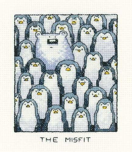 The Misfit - Simply Heritage Fish Cross Stitch