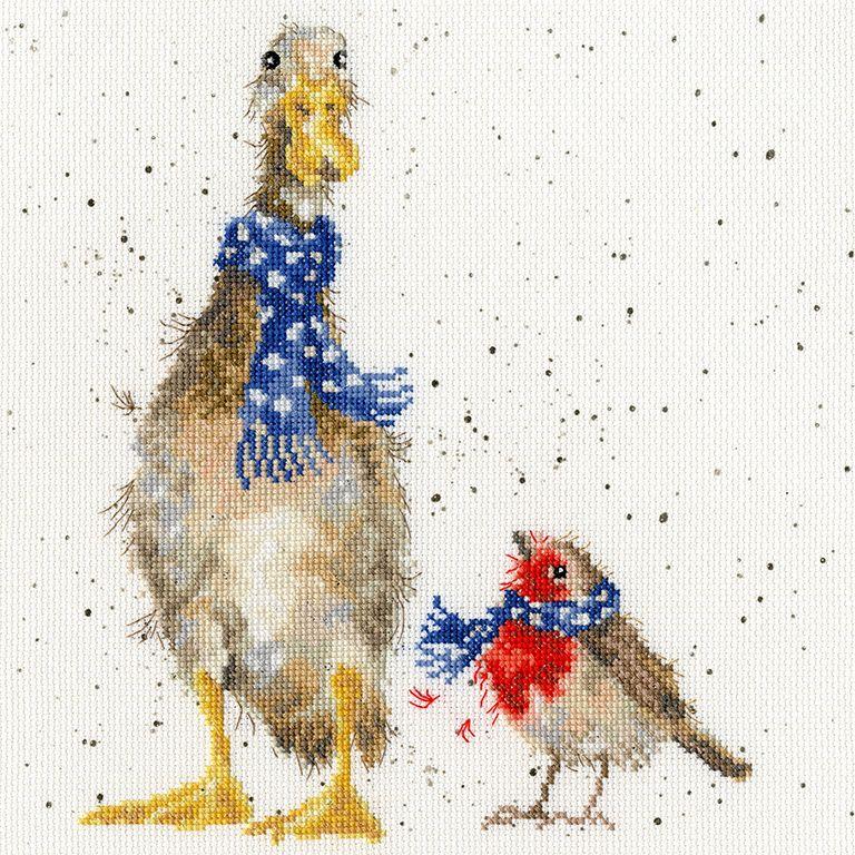 Christmas Scarves Cross Stitch - Hannah Dale