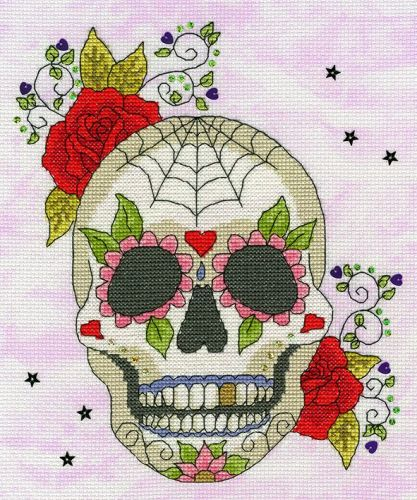 Sugar Skull - Bothy Threads Cross Stitch