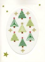 Christmas Forest Cross Stitch Card