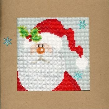 Snowy Santa Christmas Card