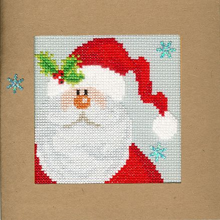 Snowy Santa Christmas Card