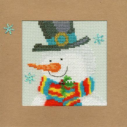 Snowy Man Christmas Card