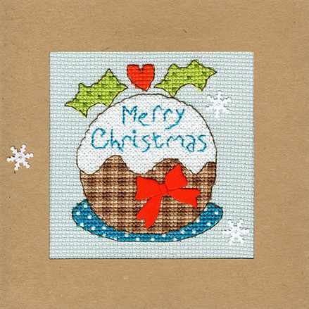 Snowy Pudding Christmas Card
