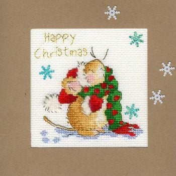 Counting Snowflakes Christmas Card