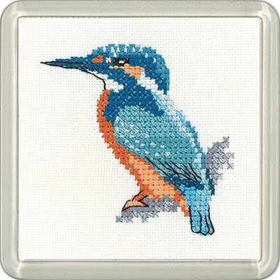 Goldfinch Coaster Cross Stitch