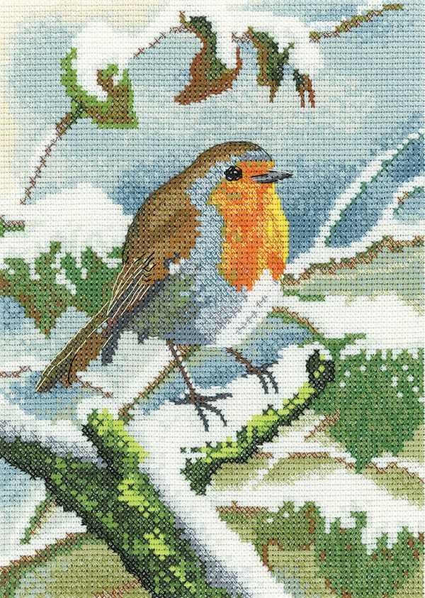 Robin in Winter Cross Stitch - Nigel Artingstall