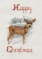 Deer in a Snow Storm - Christmas Card