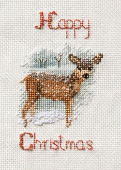 Deer in a Snow Storm - Christmas Card