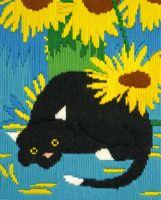 Socks Long Stitch Cat