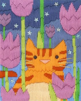 Tiger Long Stitch Cat