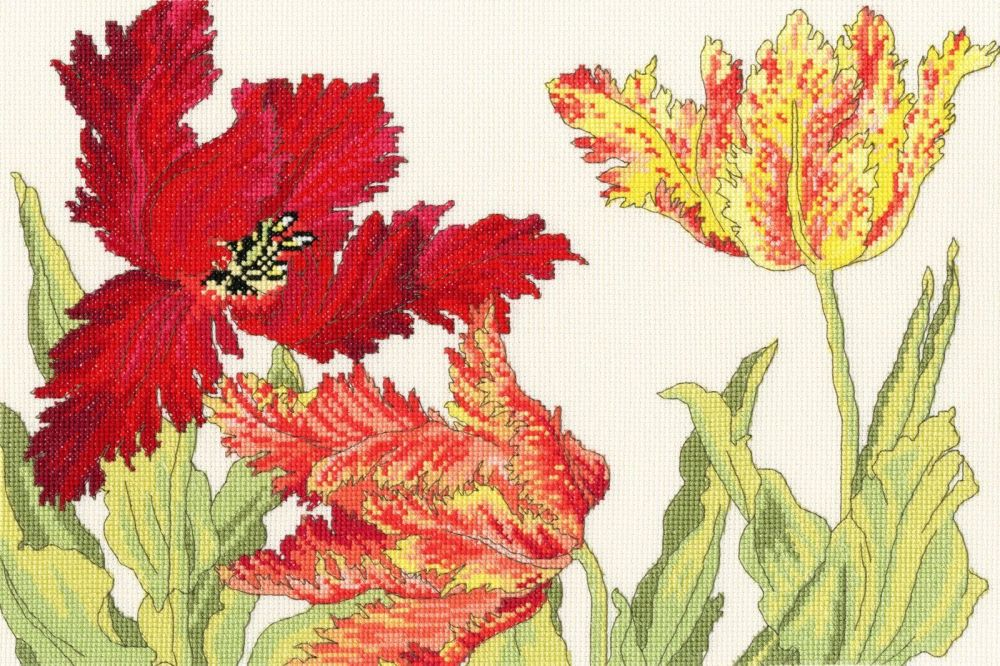 Tulip Blooms - Floral Cross Stitch