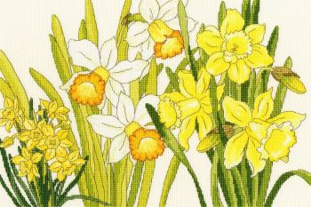Daffodil Blooms - Floral Cross Stitch