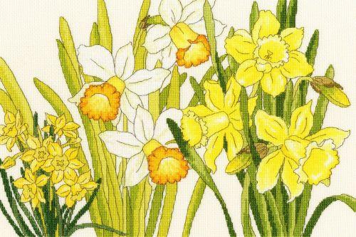 Daffodil Blooms - Floral Cross Stitch