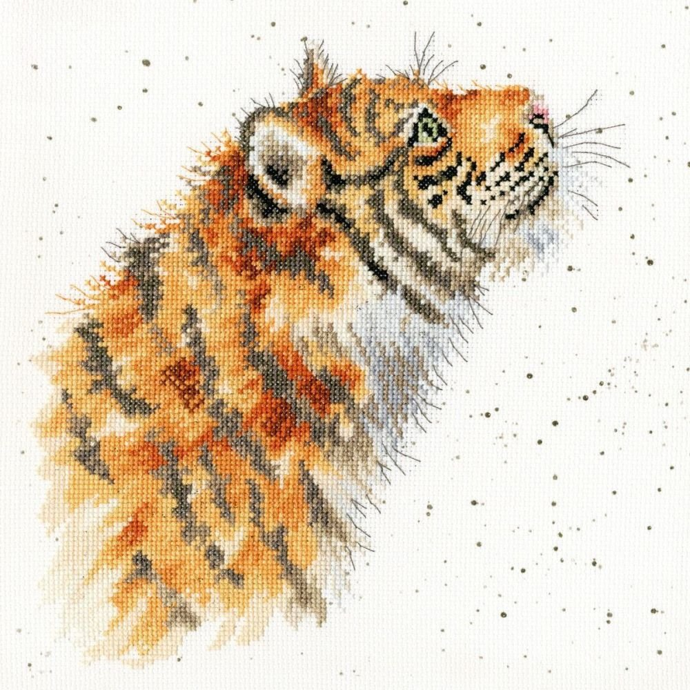 Moongazer Tiger cross stitch - Hannah Dale