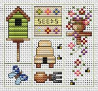 Garden Delights Cross Stitch Card
