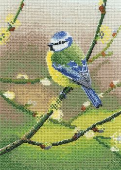 Blue Tit Bird Cross Stitch - Nigel Artingstall