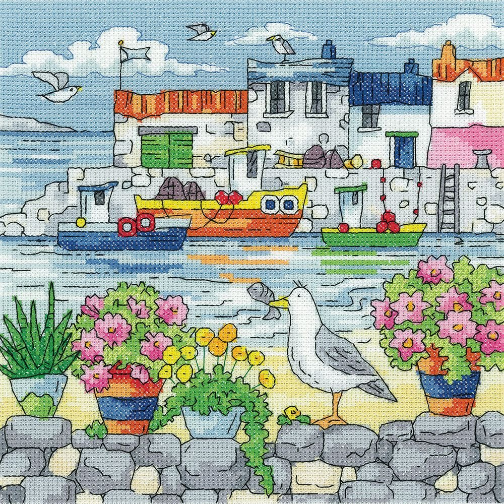Geranium Shore - Heritage Crafts Seaside Cross Stitch