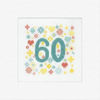 <!-- 029 -->60th Cross Stitch Card Kit - Heritage Crafts