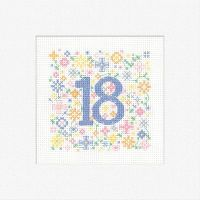 18th Cross Stitch Card Kit - Heritage Crafts