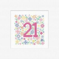 21st Cross Stitch Card Kit - Heritage Crafts