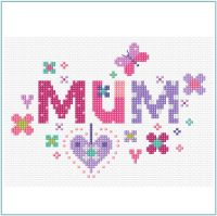 Floral Mum Sampler Cross Stitch