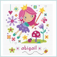 Flower Fairy Girl Sampler Cross Stitch