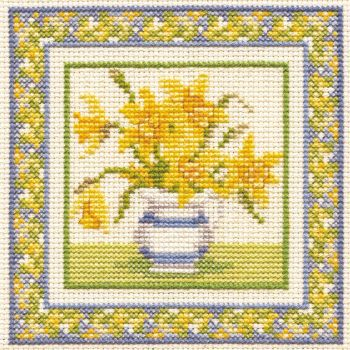 Daffodils Cross Stitch