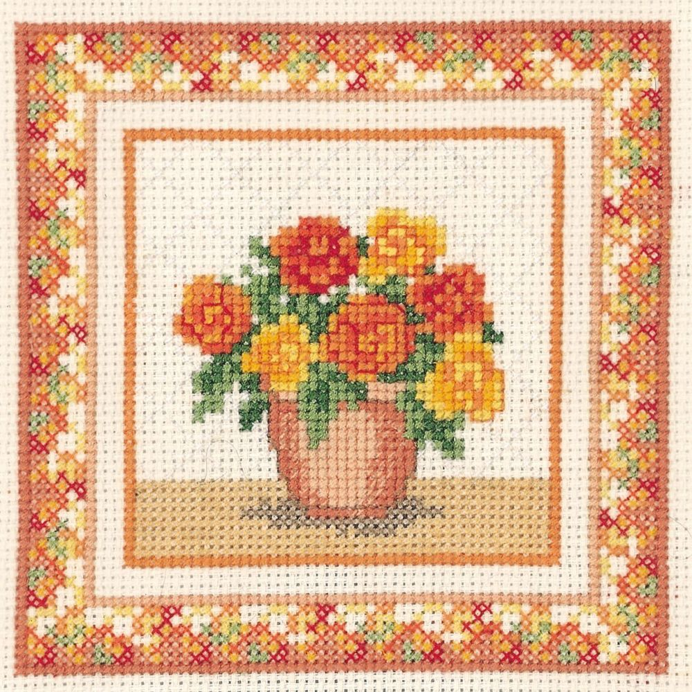 Begonias Cross Stitch