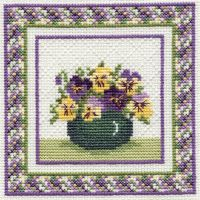 Pansies Cross Stitch