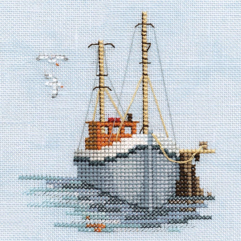 Fishing Boat Small Cross Stitch