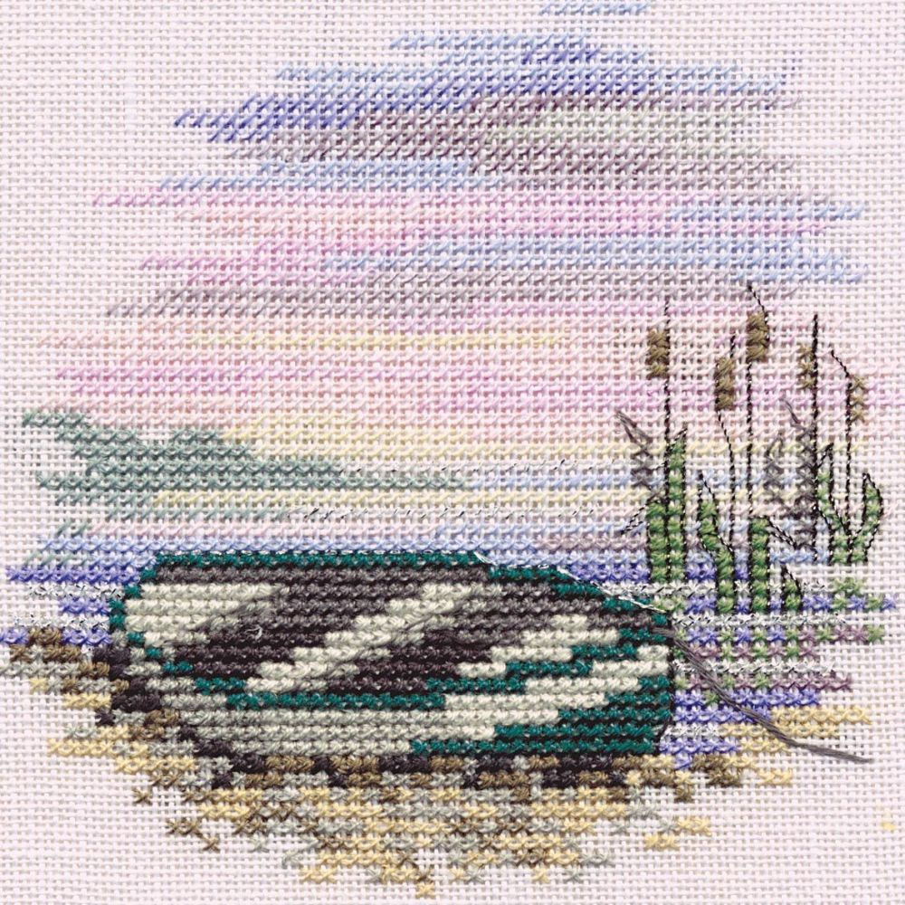 Rowing Boat Small Cross Stitch