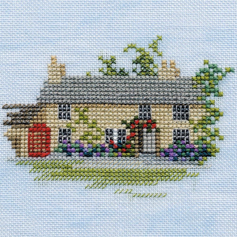 Rose Cottage Small Cross Stitch