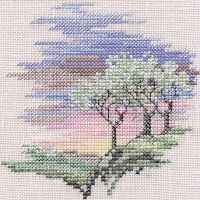 Frosty Trees Small Cross Stitch
