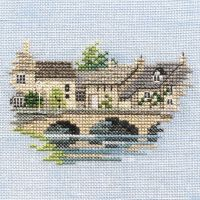 Bourton on the Water Cotswold  Cross Stitch