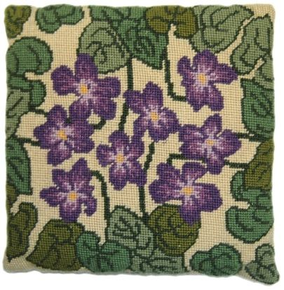Violet Herb Pillow Tapestry