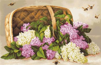 Basket of Lilacs - Petit Point Kit - Luca-S