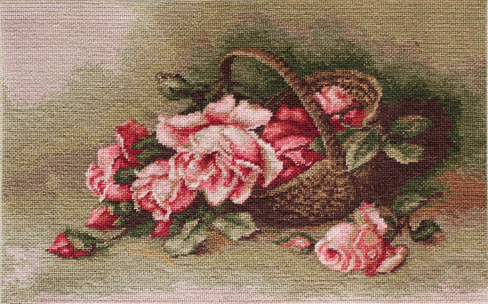 Basket of Roses - Petit Point Kit - Luca-S