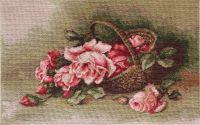 Basket of Roses - Petit Point Kit - Luca-S