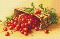 Basket of Cherries - Petit Point Kit - Luca-S