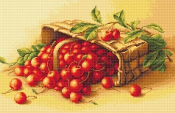 Basket of Cherries - Petit Point Kit - Luca-S