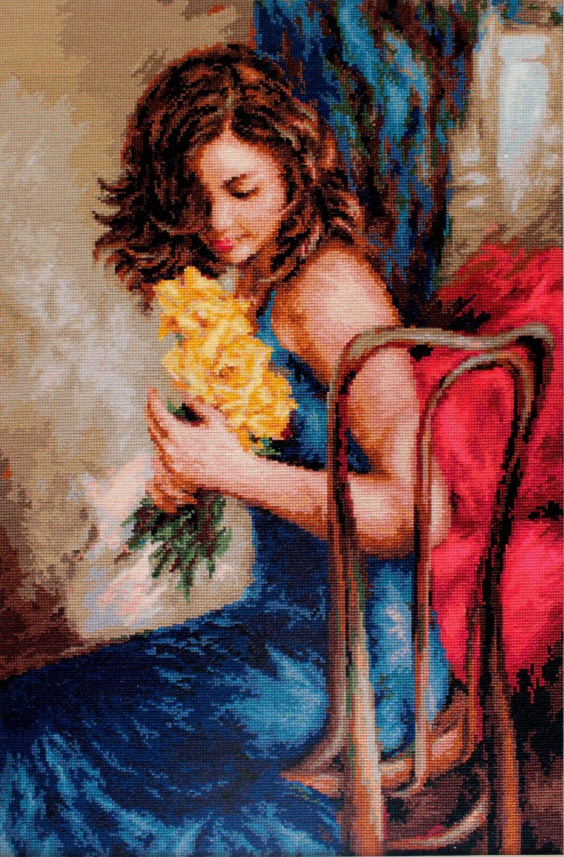 Yellow Roses - Petit Point Kit - Luca-S