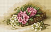 Basket with Flowers -  Petit Point Kit - Luca-S