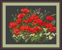Poppies - Petit Point Kit - Luca-S