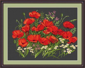Poppies - Petit Point Kit - Luca-S