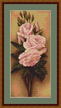 Roses I - Petit Point Kit - Luca-S