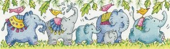 Elephants on Parade Cross Stitch - Heritage Crafts