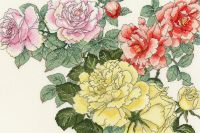 Rose Blooms - Floral Cross Stitch