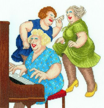 Song and Dance - Beryl Cook Cross Stitch