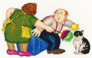 That's the Cat's Chair - Beryl Cook Cross Stitch